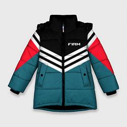 Куртка зимняя для девочки Firm 90s: Arrows Style цвета 3D-черный — фото 1