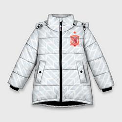 Куртка зимняя для девочки Сборная Испании: Гостевая ЧМ-2018 цвета 3D-черный — фото 1