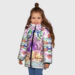 Куртка зимняя для девочки No Game No Life 9 цвета 3D-черный — фото 2