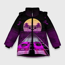 Куртка зимняя для девочки Digital Race цвета 3D-черный — фото 1
