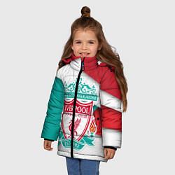 Куртка зимняя для девочки FC Liverpool цвета 3D-черный — фото 2