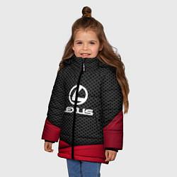 Куртка зимняя для девочки Lexus: Grey Carbon цвета 3D-черный — фото 2