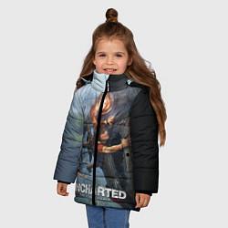 Куртка зимняя для девочки Uncharted: The Lost Legacy цвета 3D-черный — фото 2