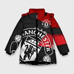 Куртка зимняя для девочки FC Man United: Exclusive цвета 3D-черный — фото 1