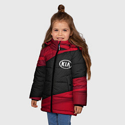 Куртка зимняя для девочки Kia: Red Sport цвета 3D-черный — фото 2