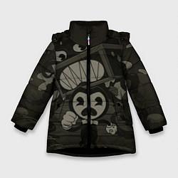 Куртка зимняя для девочки Bendy Devil цвета 3D-черный — фото 1