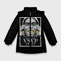 Куртка зимняя для девочки ASAP Rocky: Gold Edition цвета 3D-черный — фото 1