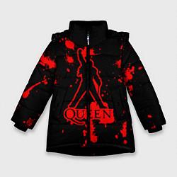 Куртка зимняя для девочки Queen: Blood Style цвета 3D-черный — фото 1