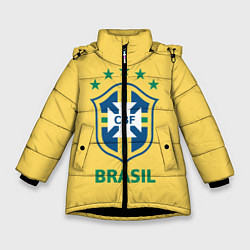 Куртка зимняя для девочки Brazil Team цвета 3D-черный — фото 1