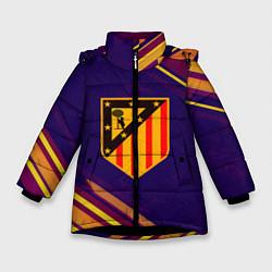 Куртка зимняя для девочки Atletico Madrid цвета 3D-черный — фото 1