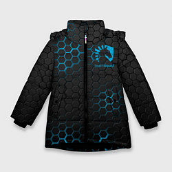 Куртка зимняя для девочки Team Liquid: Carbon Style цвета 3D-черный — фото 1