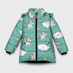 Куртка зимняя для девочки Love of Unicorns цвета 3D-черный — фото 1