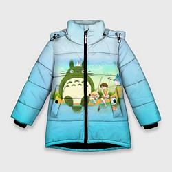 Куртка зимняя для девочки Мой сосед Тоторо цвета 3D-черный — фото 1