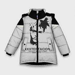 Куртка зимняя для девочки XXXTentacion RIP цвета 3D-черный — фото 1