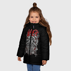 Куртка зимняя для девочки Slayer: Hell Goat цвета 3D-черный — фото 2