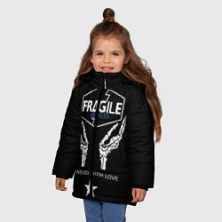 Куртка зимняя для девочки Death Stranding: Fragile Express цвета 3D-черный — фото 2