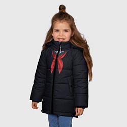 Куртка зимняя для девочки Пионер ВМФ: черный цвета 3D-черный — фото 2