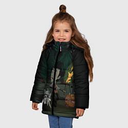 Куртка зимняя для девочки Don't Starve: Night Forrest цвета 3D-черный — фото 2