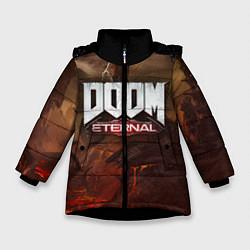 Куртка зимняя для девочки DOOM: Eternal цвета 3D-черный — фото 1