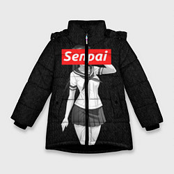 Куртка зимняя для девочки Senpai: School Girl цвета 3D-черный — фото 1