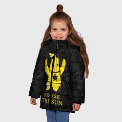 Куртка зимняя для девочки Praise The Sun цвета 3D-черный — фото 2