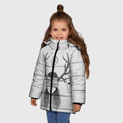 Куртка зимняя для девочки True Detective: Horny Girl цвета 3D-черный — фото 2