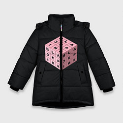 Куртка зимняя для девочки Black Pink Cube цвета 3D-черный — фото 1