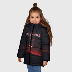 Куртка зимняя для девочки TES: Hell Dragon цвета 3D-черный — фото 2