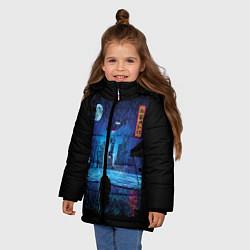 Куртка зимняя для девочки Blade Runner: Dark Night цвета 3D-черный — фото 2