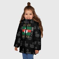 Куртка зимняя для девочки GUSSI: Little Style цвета 3D-черный — фото 2