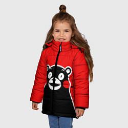 Детская зимняя куртка для девочки с принтом Kumamon Smile, цвет: 3D-черный, артикул: 10162548106065 — фото 2