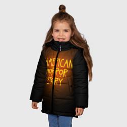 Куртка зимняя для девочки AHS: Orange Light цвета 3D-черный — фото 2