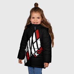 Куртка зимняя для девочки IKON цвета 3D-черный — фото 2