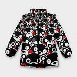 Куртка зимняя для девочки Kumamons цвета 3D-черный — фото 1