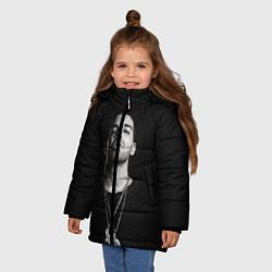 Куртка зимняя для девочки Drake цвета 3D-черный — фото 2