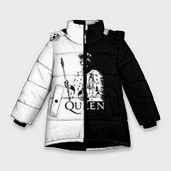 Куртка зимняя для девочки Queen B&W цвета 3D-черный — фото 1