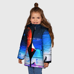 Куртка зимняя для девочки No Man's Sky: Galaxy цвета 3D-черный — фото 2