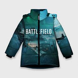Куртка зимняя для девочки Battlefield: Sea Force цвета 3D-черный — фото 1