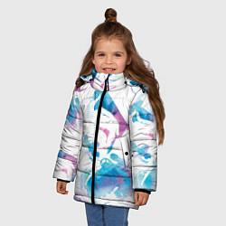 Куртка зимняя для девочки Неоновый штурмовик цвета 3D-черный — фото 2
