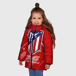 Куртка зимняя для девочки ФК Атлетико Мадрид цвета 3D-черный — фото 2