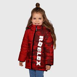 Куртка зимняя для девочки ROBLOX: Red Camo цвета 3D-черный — фото 2