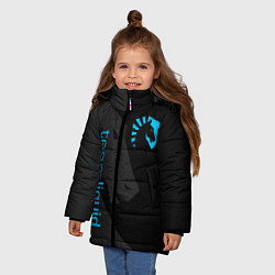 Куртка зимняя для девочки TEAM LIQUID цвета 3D-черный — фото 2