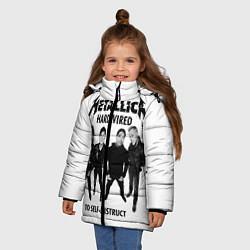 Куртка зимняя для девочки Metallica: Hardwired цвета 3D-черный — фото 2