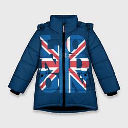 Куртка зимняя для девочки London: Great Britain цвета 3D-черный — фото 1