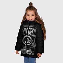 Куртка зимняя для девочки AC/DC: Dirty Deeds цвета 3D-черный — фото 2