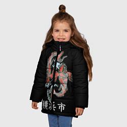 Куртка зимняя для девочки Иокогама цвета 3D-черный — фото 2