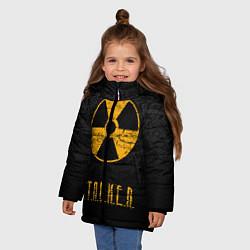 Куртка зимняя для девочки STALKER: Radioactive цвета 3D-черный — фото 2