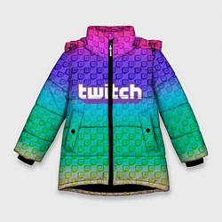 Куртка зимняя для девочки Rainbow Twitch цвета 3D-черный — фото 1