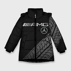 Куртка зимняя для девочки Mercedes AMG: Street Racing цвета 3D-черный — фото 1