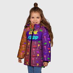 Куртка зимняя для девочки Gone Fludd art 5 цвета 3D-черный — фото 2